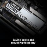 Kingston KC2000 M.2 SSD M.2 2280 PCIe NVMe Gen 3.0 (x2)