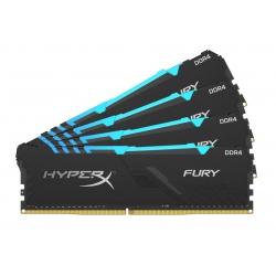 HyperX Fury RGB HX434C17FB3AK4/128 128GB (32GB x4) DDR4 3466Mhz Non ECC Memory RAM DIMM