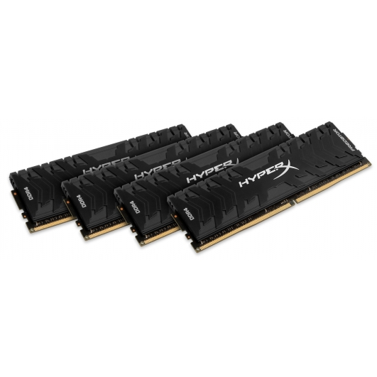 HyperX Predator HX424C12PB3K4/32 Black 32GB (8GB x4) DDR4 2400Mhz Non ECC Memory RAM DIMM