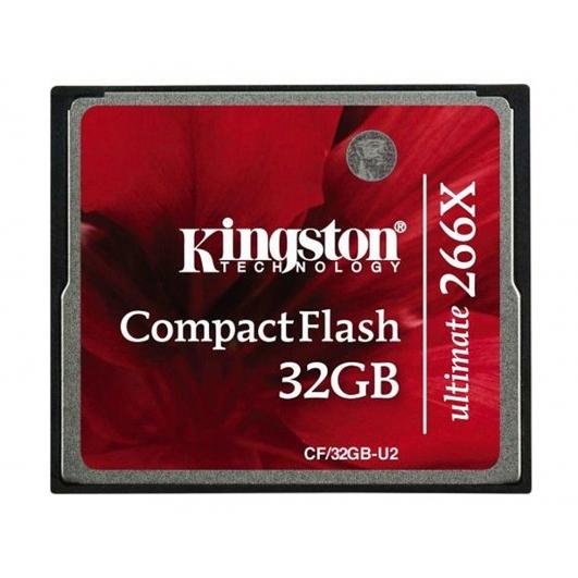 Kingston 32GB Ultimate Compact Flash (CF) Card 266x