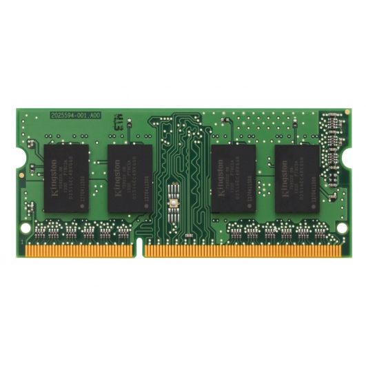 Total Capacity: 2GB DDR3 Non-ECC SODIMM