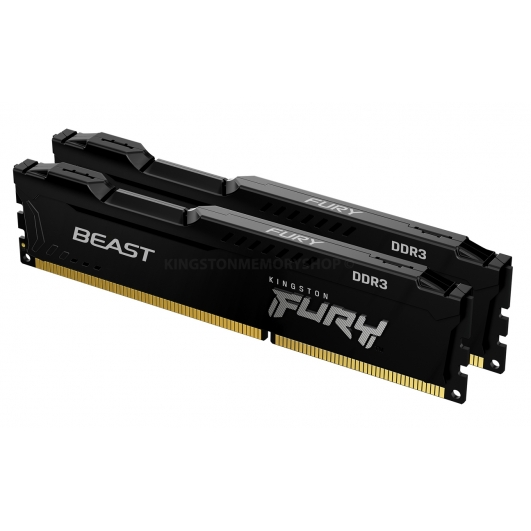 Kingston Fury Beast KF316C10BBK2/16 16GB (8GB x2) DDR3 1600Mhz Non ECC DIMM