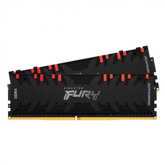 Kingston Fury Renegade RGB KF430C15RB1AK2/32 32GB (16GB x2) DDR4 3000MHz Non ECC DIMM