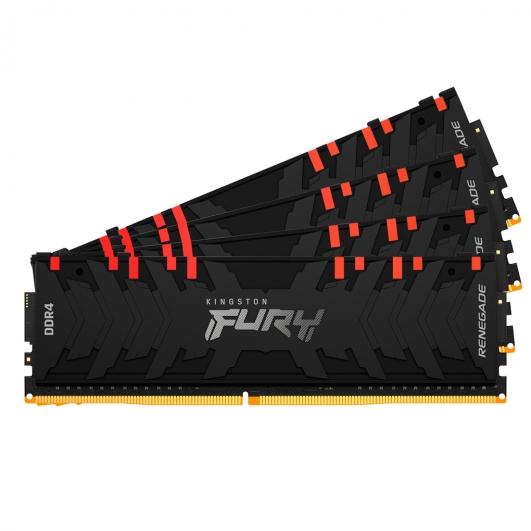 Kingston Fury Renegade RGB KF430C15RB1AK4/64 64GB (16GB x4) DDR4 3000MHz Non ECC DIMM