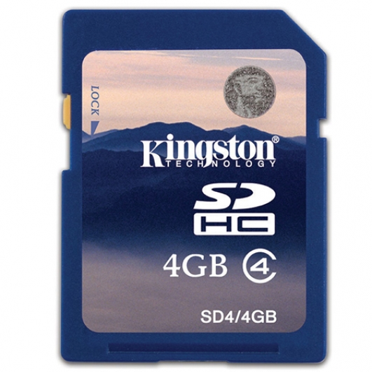 Kingston 4GB SDHC (SD) Memory Card 4MB/s