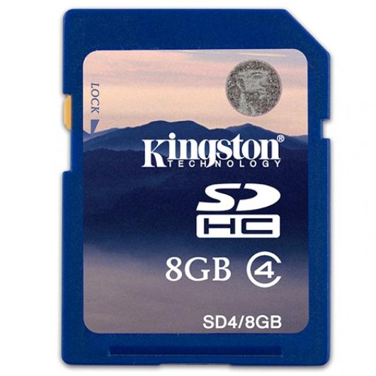 Kingston 8GB SDHC (SD) Memory Card 4MB/s