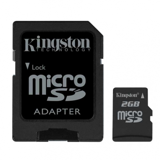 Kingston 2GB  MicroSD Memory Card (Retail)