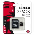 Kingston 256GB microSDXC Memory Card Inc Adapter U1 45MB/s G2