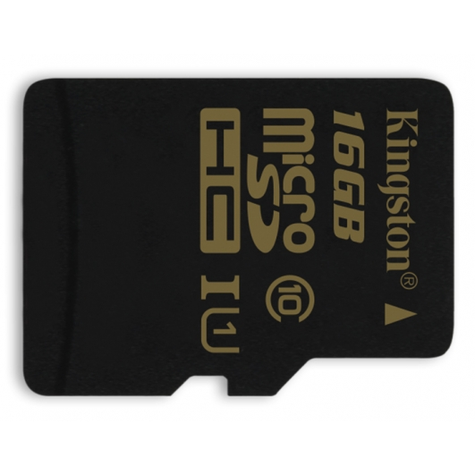 Kingston 16GB microSDHC (microSD) Memory Card Inc Adapter U1 45MB/s