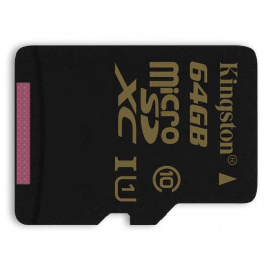 Kingston 64GB microSDXC Memory Card Inc Adapter U1 45MB/s