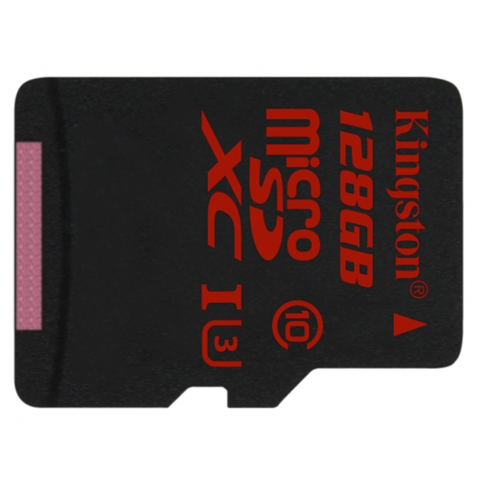 Kingston 128GB microSDXC Memory Card Inc Adapter U3 90MB/s