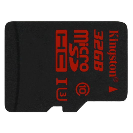 Kingston 32GB microSDHC (microSD) Memory Card Inc Adapter U3 90MB/s