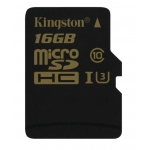 Kingston Gold 16GB microSDHC (microSD) Memory Card Inc Adapter U3 90MB/s