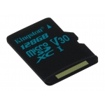 Kingston 128GB Canvas Go Micro SD (SDXC) Card U3, V30, A1, 45MB/s R, 90MB/s W
