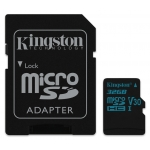 Kingston 32GB Canvas Go Micro SD Card U3, V30, A1, 45MB/s R, 90MB/s W
