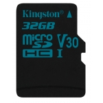 Kingston 32GB Canvas Go microSDHC Memory Card Inc Adapter U3 90MB/s V-Class 30