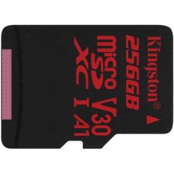 Kingston 256GB Canvas React Micro SD (SDXC) Card U3, V30, A1, 100MB/s R, 80MB/s W