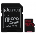 Kingston 512GB Canvas React Micro SD (SDXC) Card U3, V30, A1, 100MB/s R, 80MB/s W