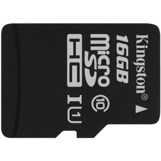 Kingston 16GB Canvas Select Micro SD (SDHC) Card 80MB/s R, 10MB/s W