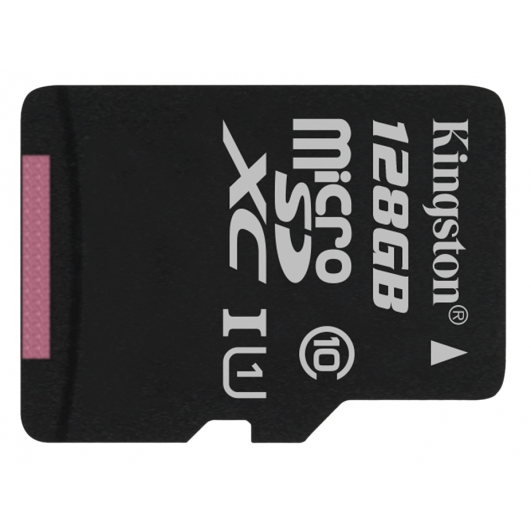 Kingston 128GB Canvas Select microSDXC Memory Card Inc Adapter U1 80MB/s
