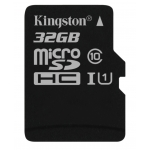 Kingston 32GB Canvas Select microSDHC (microSD) Memory Card Inc Adapter U1 80MB/s