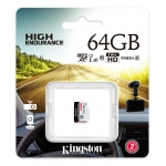 Kingston 64GB High Endurance Micro SD (SDXC) Card U1 A1, 95MB/s R, 30MB/s W