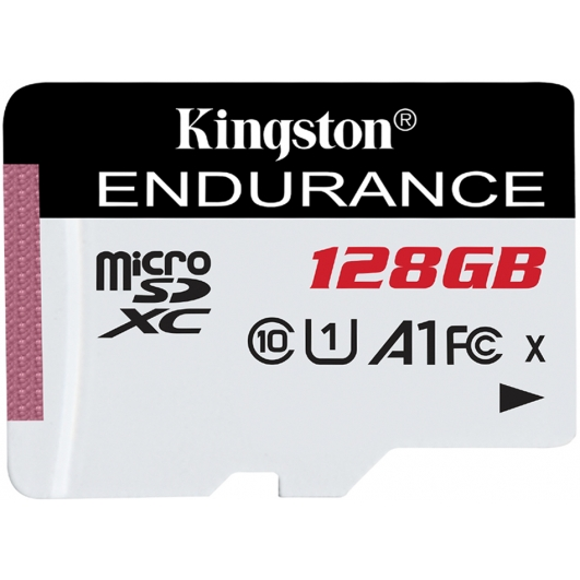 Kingston 128GB High Endurance Micro SD Card - U1, Up To 95MB/s