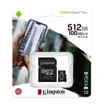 Kingston 512GB Canvas Select Plus Micro SD Card - U3, V30, A1, Up To 100MB/s