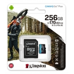 Kingston 256GB Canvas Go Plus Micro SD Card - U3, V30, Up To 170MB/s