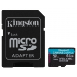 Kingston 64GB Canvas Go Plus Micro SD Card - U3, V30, Up To 170MB/s