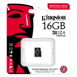 Kingston 16GB Industrial Micro SD (SDHC) Card U3, V30, A1, 100MB/s R, 80MB/s W, No Adapter