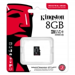 Kingston 8GB Industrial Micro SD (SDHC) Card U3, V30, A1, 100MB/s R, 80MB/s W, No Adapter