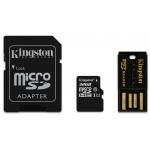 Kingston 32GB microSDHC (microSD) Memory Card With Reader U1 10MB/s