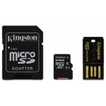 Kingston 64GB microSDXC Memory Card With Reader U1 10MB/s