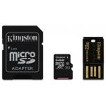 Kingston 64GB microSDXC Memory Card With Reader U1 10MB/s