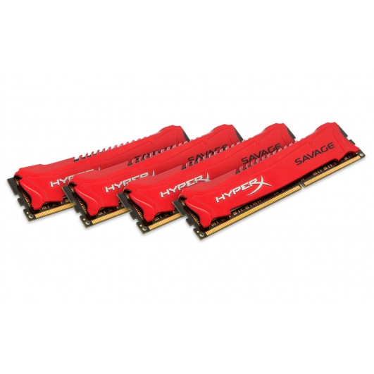 HyperX Savage Red 32GB (8GB x4) DDR3 PC3-14900 1866MHz RAM Memory 1.5v CL9 DIMM