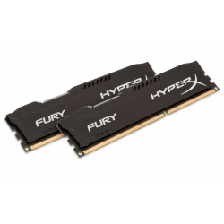 HyperX Fury HX316C10FBK2/8 Black 8GB (4GB x2) DDR3 1600Mhz Non ECC Memory RAM DIMM