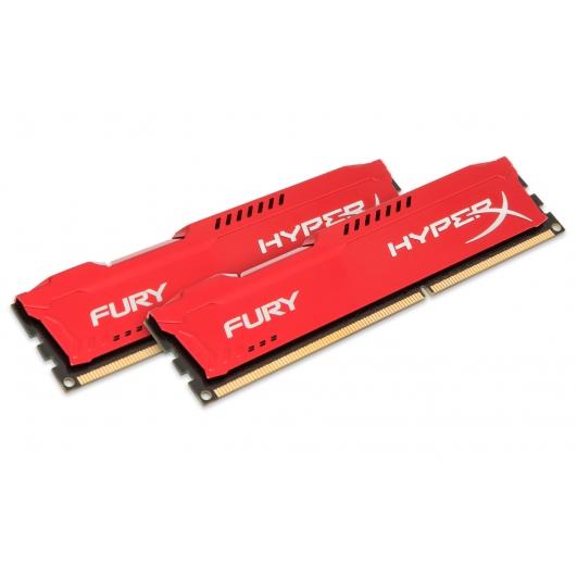 HyperX Fury HX313C9FRK2/16 Red 16GB (8GB x2) DDR3 1333Mhz Non ECC Memory RAM DIMM