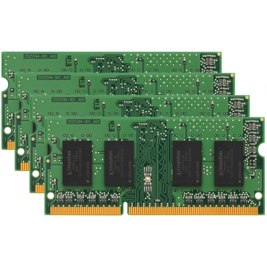 Kingston 32GB (8GB x4) DDR3L RAM Memory Non ECC SODIMM 1600Mhz PC3-12800 1.35v