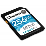 Kingston 256GB Canvas Go SD (SDXC) Card U3, V30, 90MB/s R, 45MB/s W