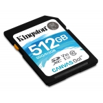 Kingston 512GB Canvas Go SD (SDXC) Card U3, V30, 90MB/s R, 45MB/s W