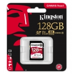 Kingston 128GB Canvas React SD (SDXC) Card U3, V30, A1, 100MB/s R, 80MB/s W