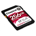 Kingston 256GB Canvas React SD (SDXC) Card U3, V30, A1, 100MB/s R, 80MB/s W