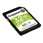 Kingston 32GB Canvas Select SD (SDHC) Card 80MB/s R, 10MB/s W