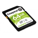 Kingston 64GB Canvas Select SDXC (SD) Memory Card U1 80MB/s