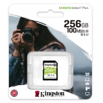 Kingston 256GB Canvas Select Plus SD Card - U3, V30, Up To 100MB/s