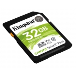 Kingston 32GB Canvas Select Plus SD (SDHC) Card U1, V10, 100MB/s R, 10MB/s W