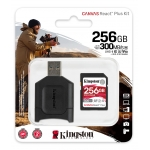 Kingston 256GB Canvas React Plus SD (SDXC) Card UHS-II, U3, V90, 300MB/s R, 260MB/s W