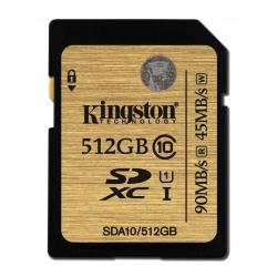 Kingston 512GB Ultimate SDXC (SD) Memory Card U1 45MB/s