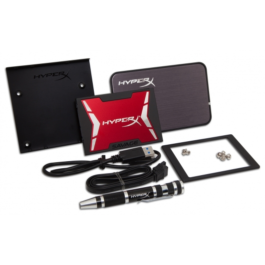 HyperX 120GB Savage SSD Solid State Drive Bundle Kit SATA 2.5 Inch 7mm